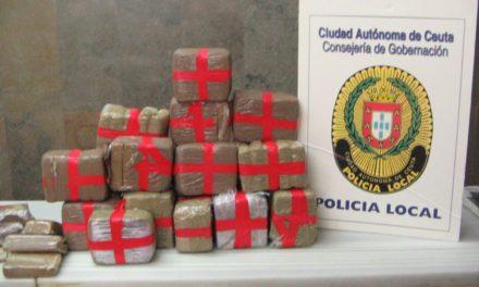 La Policía Local encuentra 20 kilos de hachís en una mochila