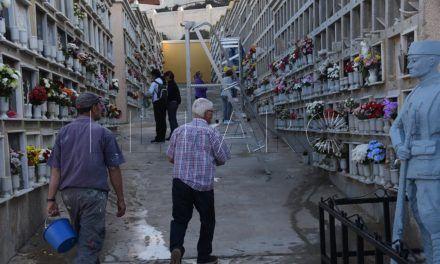 El cementerio de Santa Catalina acondiciona las dos nuevas galerías