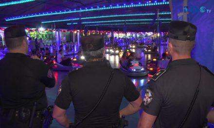 Una noche con los dispositivos de seguridad en la Feria