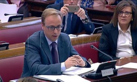 Guillermo Martínez defiende en el Senado un trato singular para Ceuta en los Fondos Comunitarios