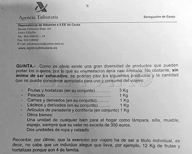 Las restricciones a la entrada de alimentos  de Marruecos por la frontera siguen vigentes