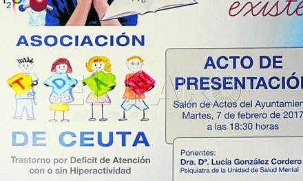 Presentación de la Asociación TDAH Ceuta el próximo martes