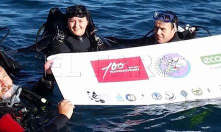 Trasmediterránea presenta en su stand la campaña de limpieza de fondos marinos