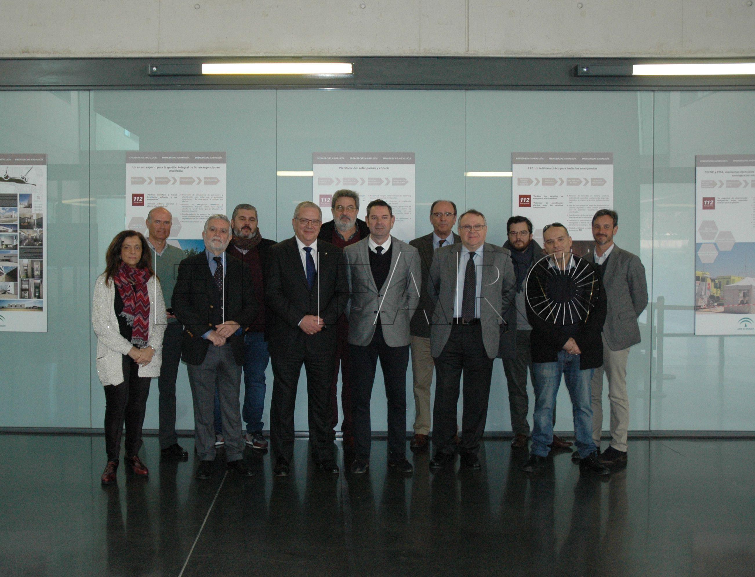 Hachuel visita la sede del 112 de Andalucía para preparar el nuevo proyecto en Ceuta