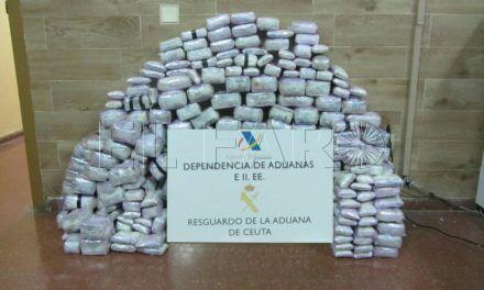 Más de cuatro años de prisión por tratar de 'colar' 115 kilos de hachís
