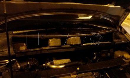 Detenida una persona con 25 kilos de hachís en su coche en el Tarajal