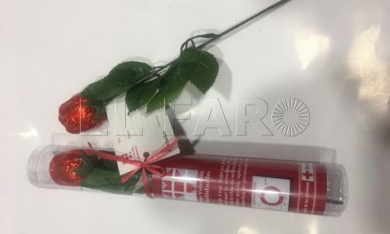 Rosas de chocolate solidarias