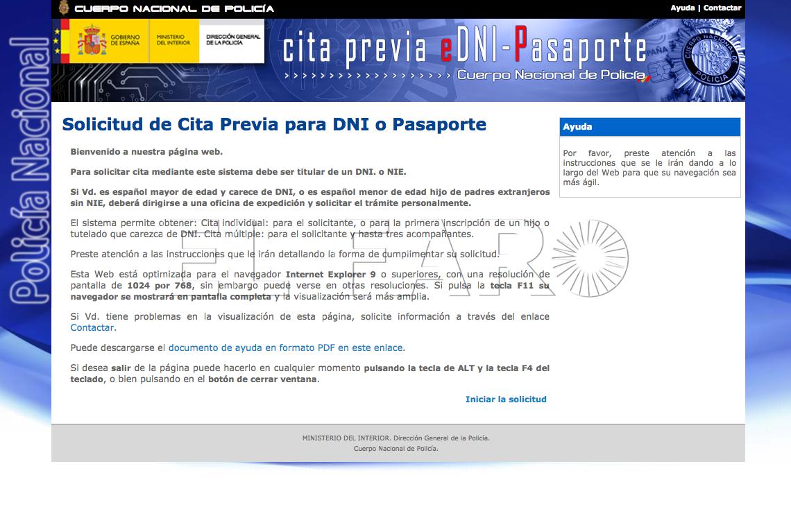 Las tasas de expedición del DNI y del Pasaporte pueden ser pagadas por vía telemática