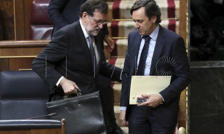 Rafael Hernando, portavoz del PP en el Congreso, el sábado en Ceuta
