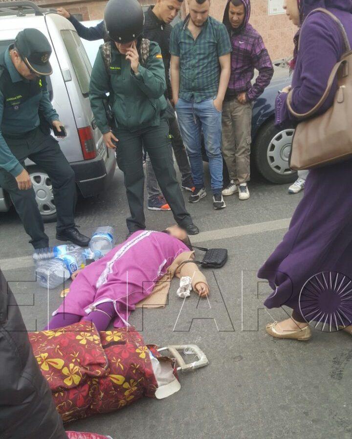 Fallece la mujer atropellada esta mañana en la rotonda de la frontera