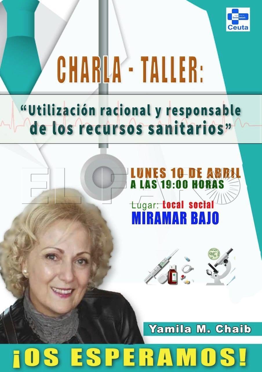 Charla sobre  el uso racional  de la sanidad mañana en Miramar Bajo