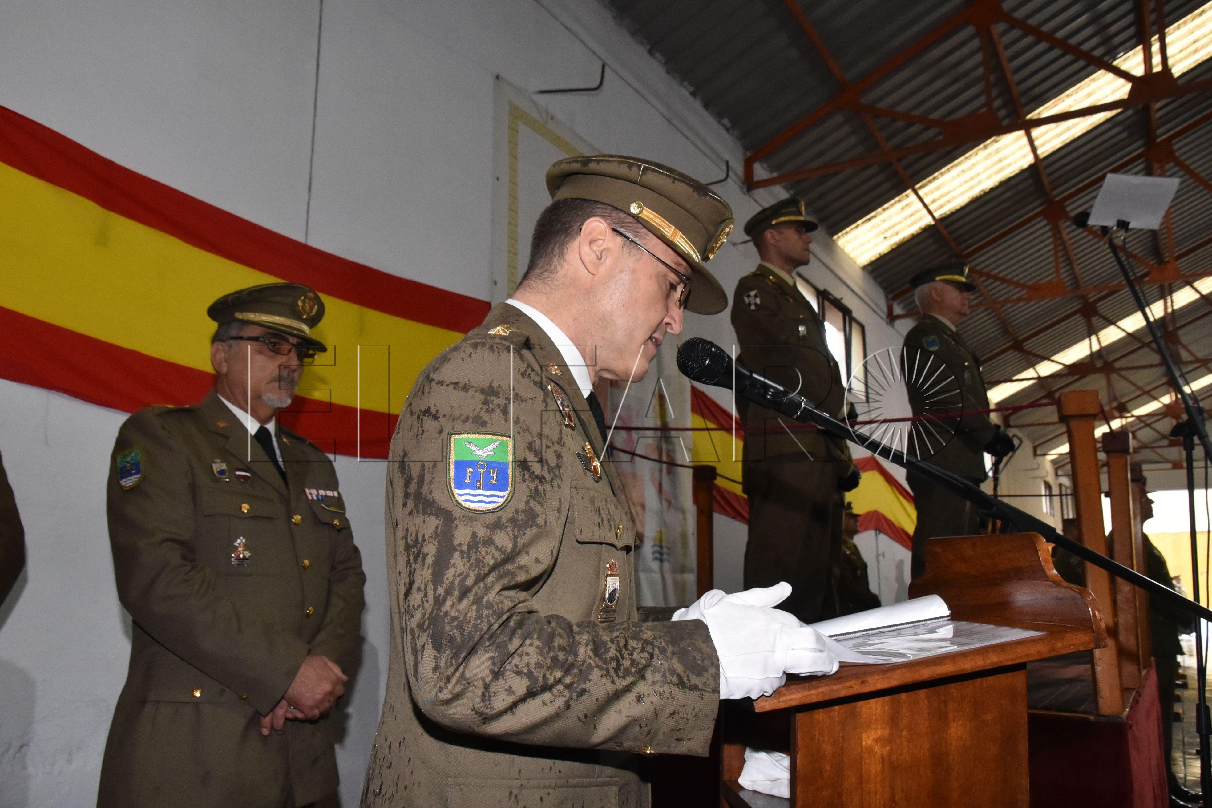 El coronel Quintana toma posesión de su cargo al frente de la USBAD