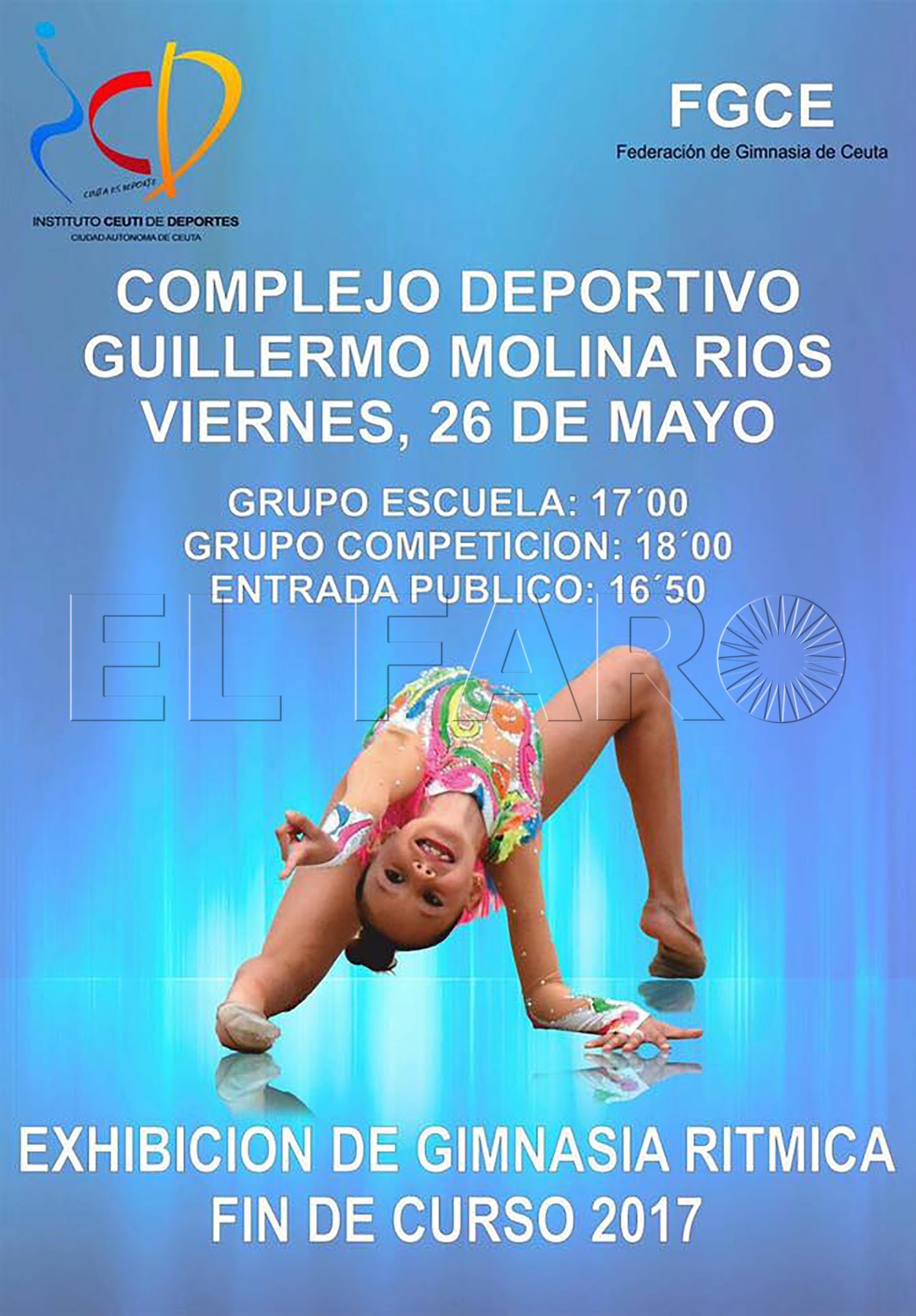 Más de 200 gimnastas en la exhibición final