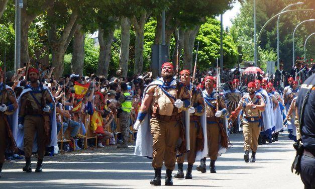Regulares de Ceuta, en el desfile