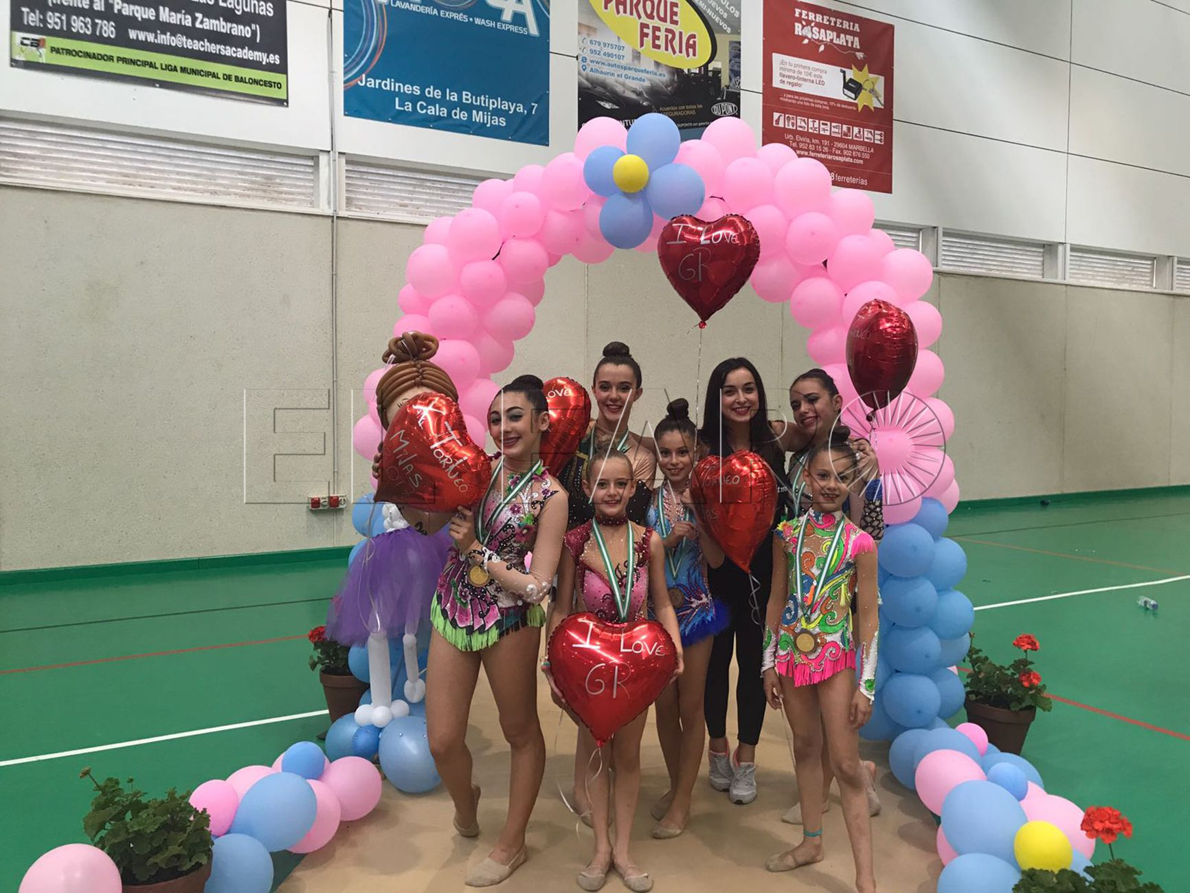 Las gimnastas se traen seis medallas de Mijas