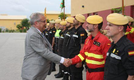 Hachuel visitó las instalaciones de la UME en Morón (Sevilla)