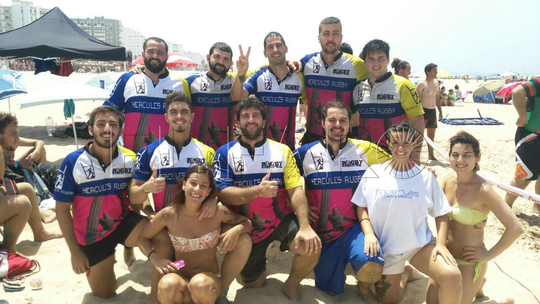 Dos equipos ceutíes, en el torneo de rugby-playa