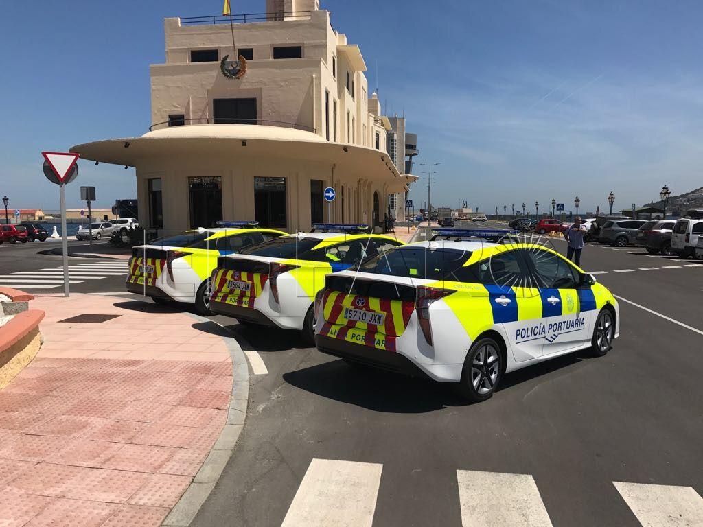 La Autoridad Portuaria, incorpora tres nuevos vehículos híbridos para su Policía