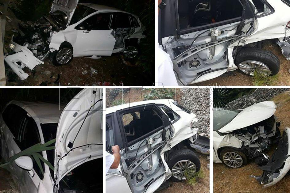 Dos conductores kamikaze sembraron el terror en la carretera de Benzú y sacaron a un coche de la calzada