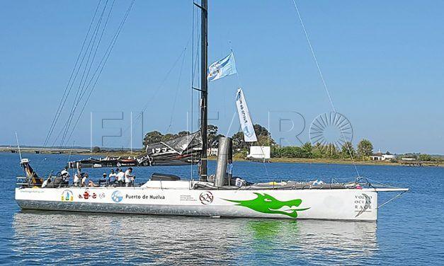 Sergio Llorca, en la regata Huelva La Gomera