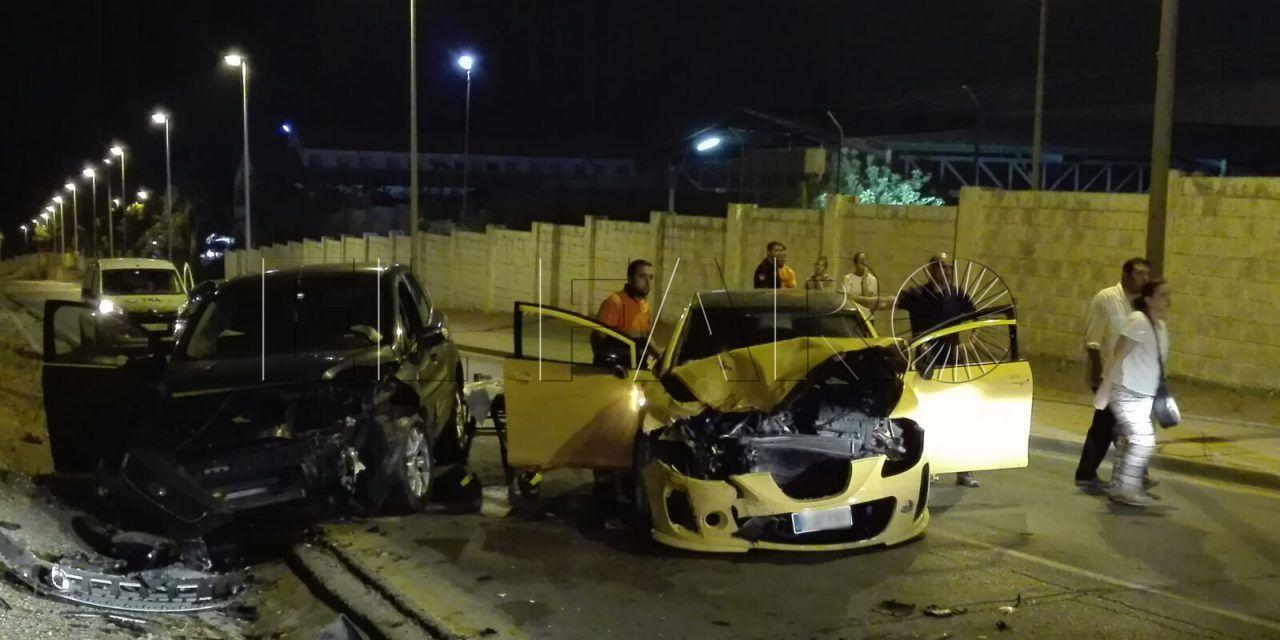 Accidente en la cuesta de Caballería con dos heridos