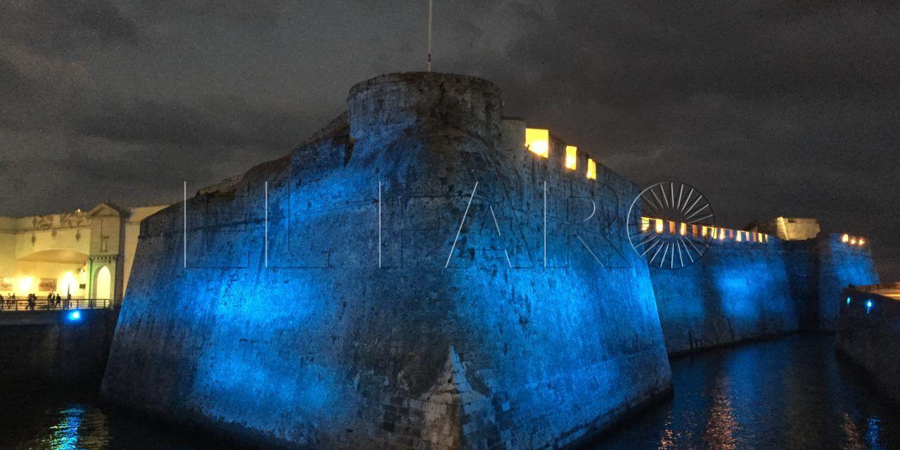 La Ciudad ilumina de azul las Murallas Reales, el Foso y las Meriníes por el Día Mundial de la Diabetes