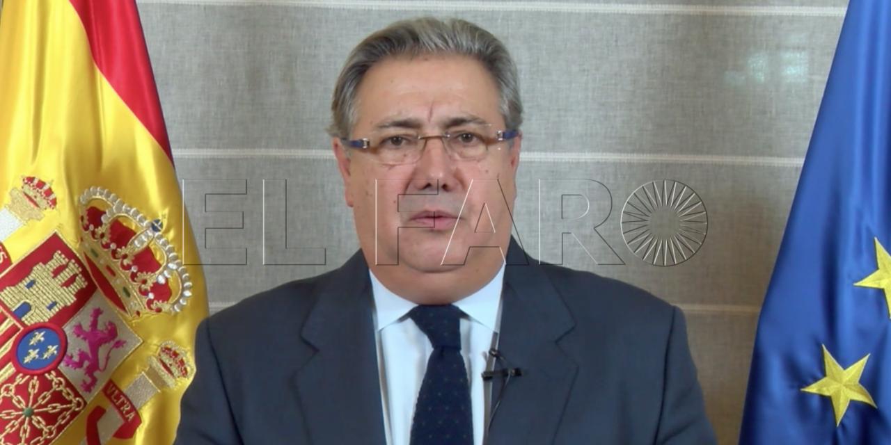 Zoido alaba la labor de las fuerzas y cuerpos de Seguridad en Ceuta