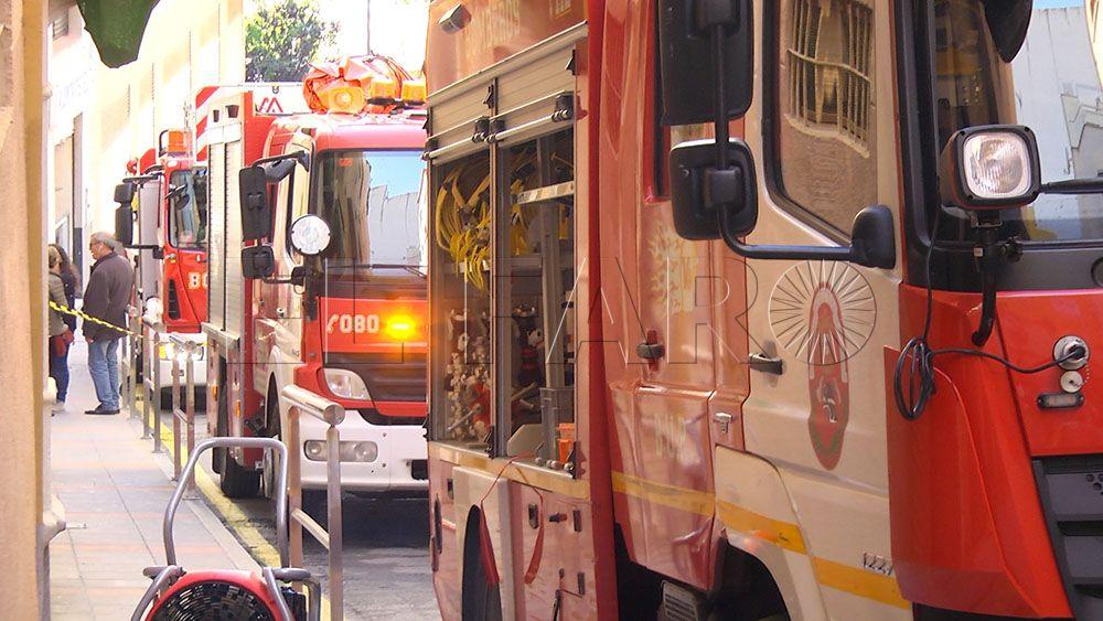 Atendida una embarazada por inhalación de humo tras un incendio