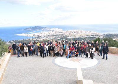 Los acuarelistas visitando y plasmando Ceuta