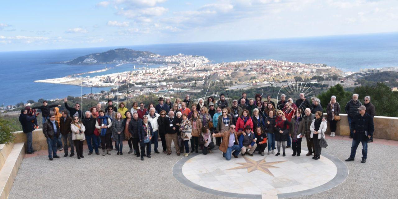 FOTOS   Los acuarelistas visitando y plasmando Ceuta