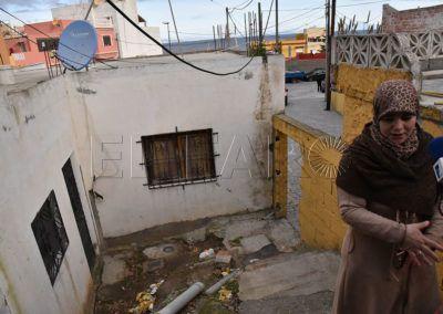 La mujer indica que ésta es la única vivienda que tiene y no tiene donde ir si la desalojan.