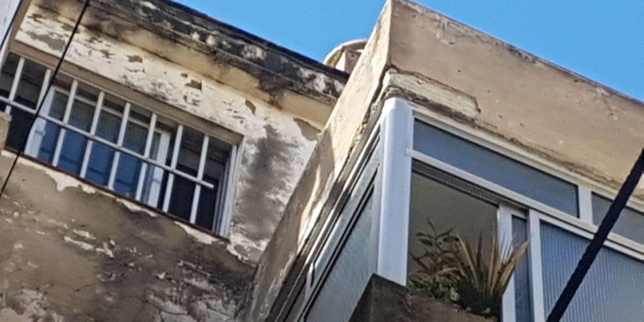 Viviendas que se desmoronan con las lluvias en la barriada El Rocío, según Ciudadanos