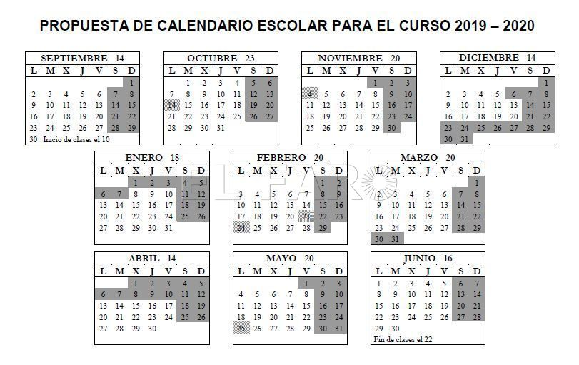 Calendario Escolar Cam.Top 10 Punto Medio Noticias Propuesta Calendario Escolar 2020 Madrid