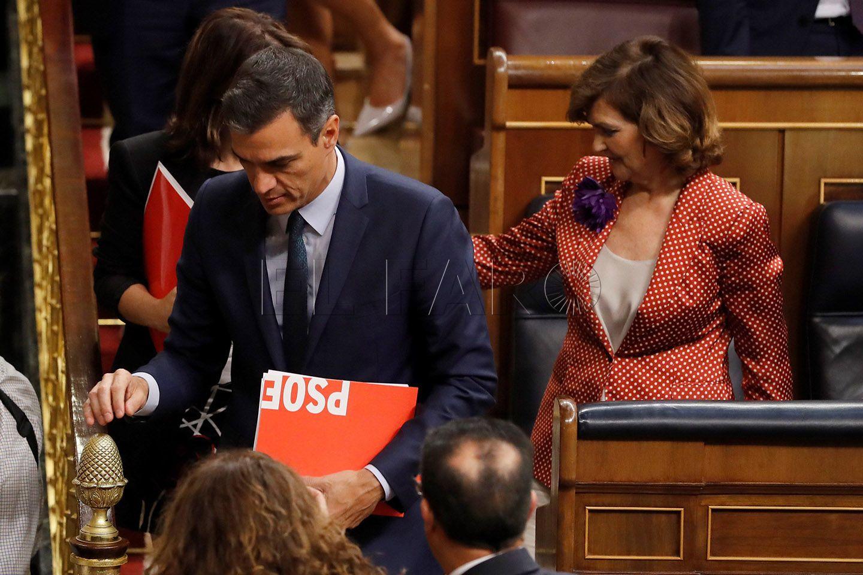 Resultado de imagen de El Congreso vuelve a rechazar la investidura de Pedro Sánchez como presidente del Gobierno