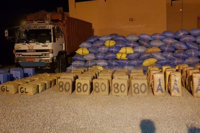 Más de 9 toneladas de hachís decomisadas al sur del país, lejos del Rif